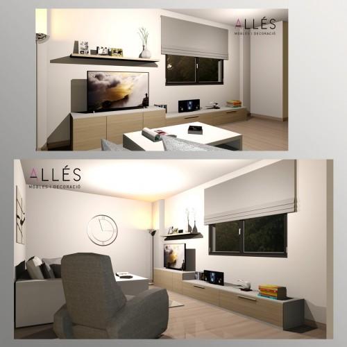 Salón, apartamento Arenal