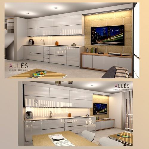 Cocina, salón comedor Duplex Ferreries