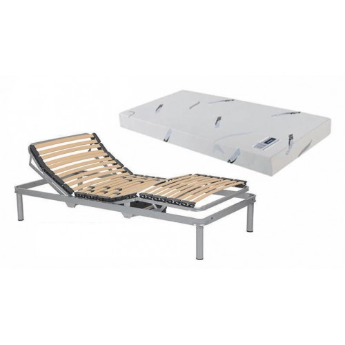 Pack articulated mettal bed base + mattress