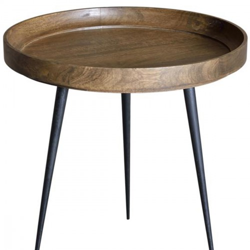 Solid mango wood side table