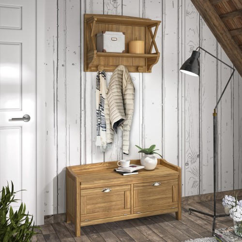 Wood chest Verona 18D + Coat rack Verona 18D