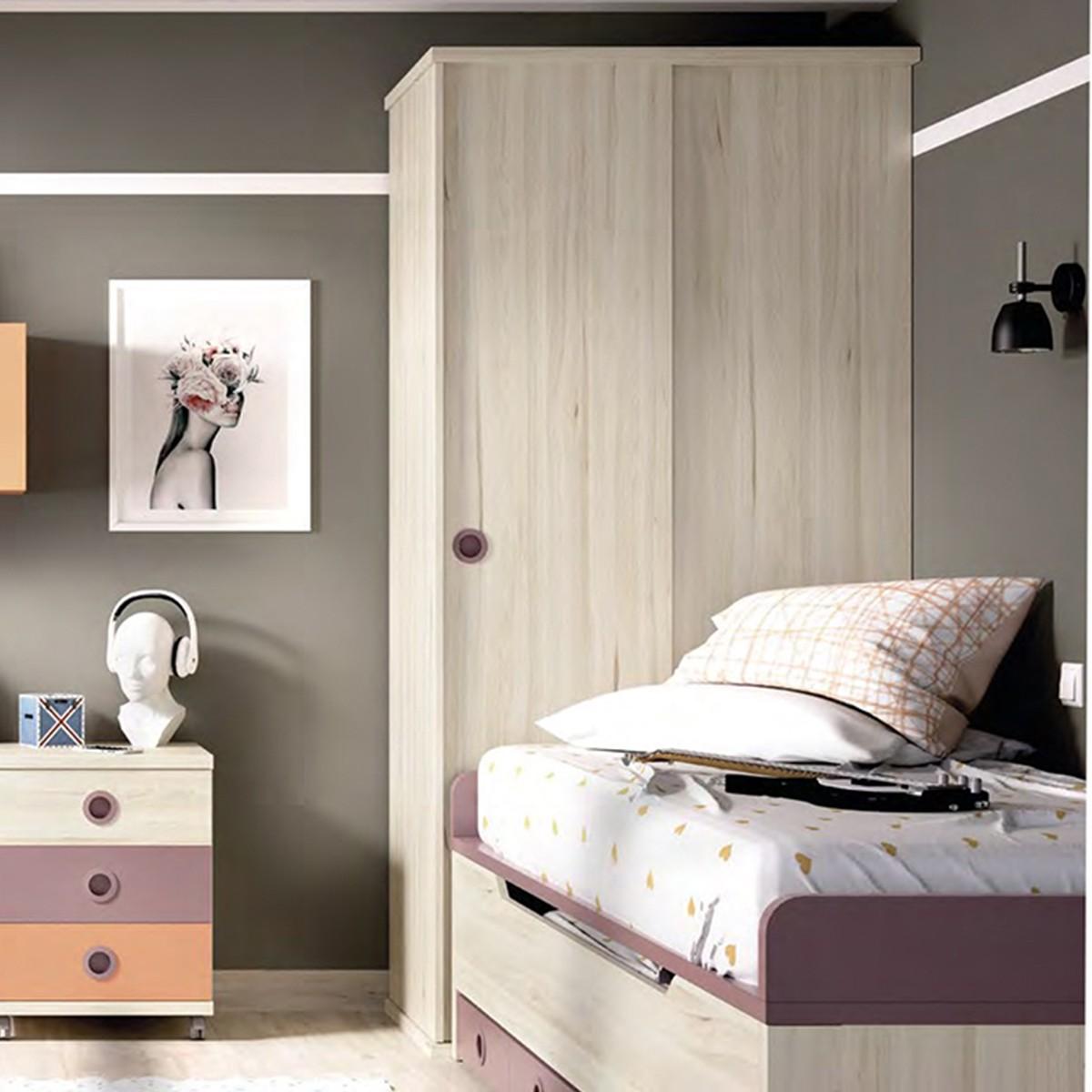 Corner Wardrobe With Slading And Folding Door