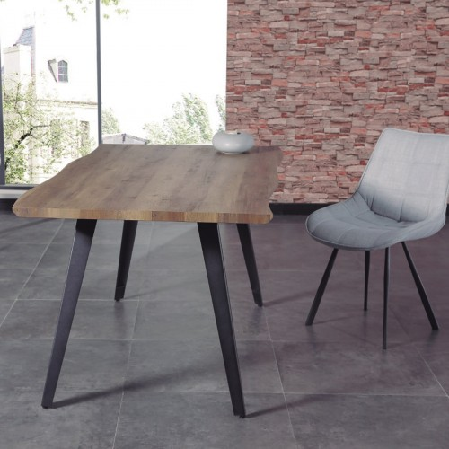 Dining table Walnut/Black