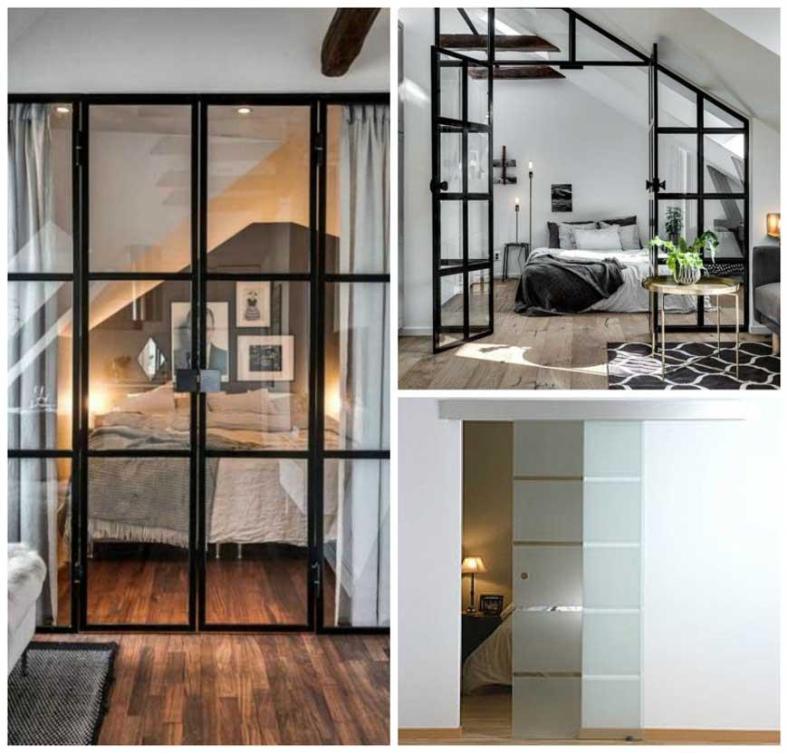 Dormitorios con paredes acristaladas