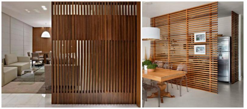 C mo separar ambientes sin paredes for Listones de madera para palets