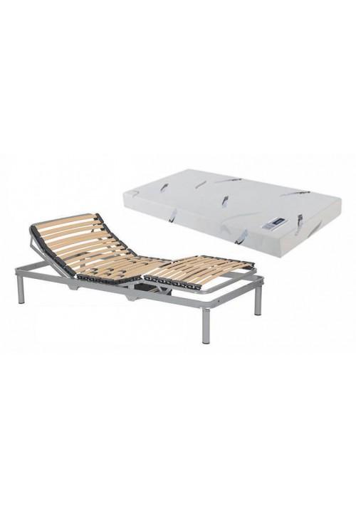 Pack articulated metal bed frame + mattress