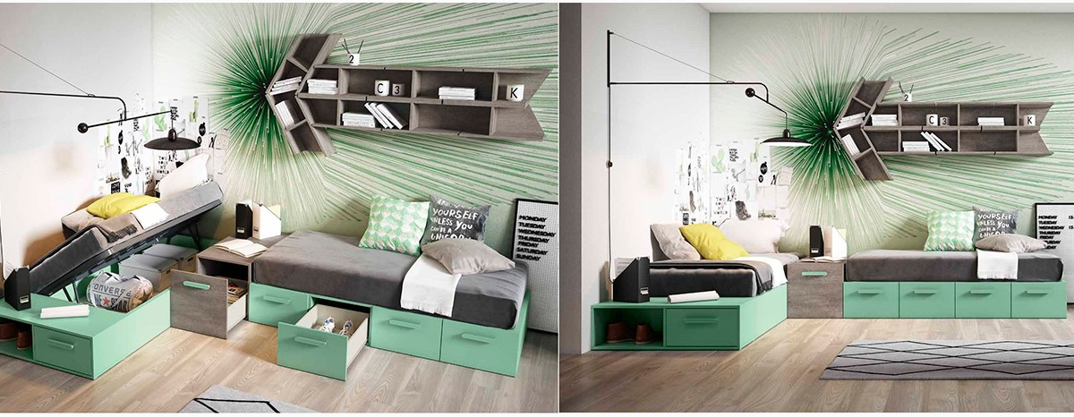 Modern, stylish and chic teen bedrooms with a wide range of units to improve space.