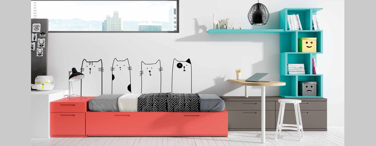 Dormitorio juvenil moderno.