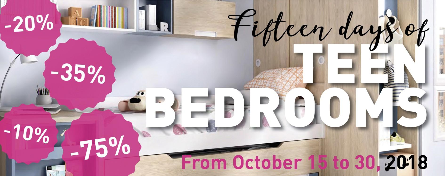 Fiteen days of teen bedrooms